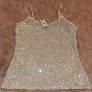 Silver Sequin Camisole